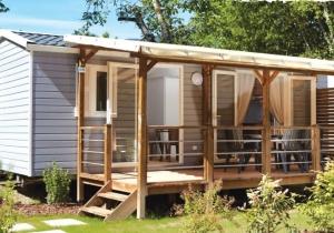 Verblijf in de gloednieuwe stacaravan Azure! Ontdek het gezellige Normandië op camping La Vallée, vanaf € 120