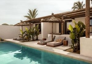 Trendy bohemian lifestyle hotel met villa's met privézwembad op Kos!