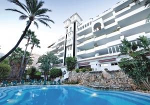 4* hotel in Malaga vlak bij het strand met kamer met zeezicht