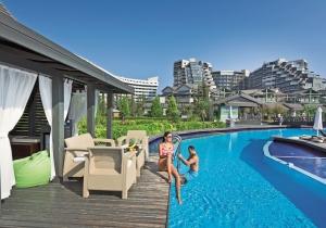 Ultra all-in 5* hotel met aquapark met 8 glijbanen in Turkije